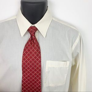 Christian Dior Dress Shirt + Classic Red Silk Tie